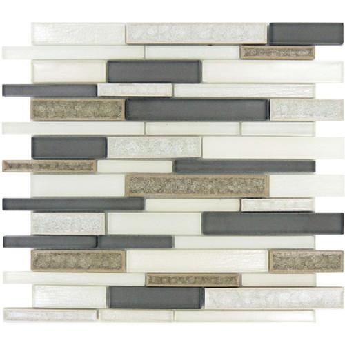 Bella Glass Tiles Bella Muro Series Sutton Frost BMS-241