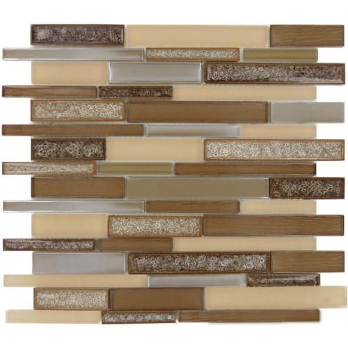 Bella Glass Tiles Bella Muro Series Monterey Suede BMS-242