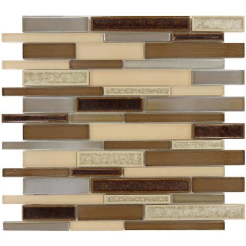 Bella Glass Tiles Bella Muro Series Mauve Mocha BMS-243