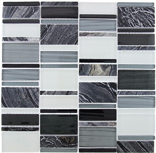Bella Glass Tiles Corrugated Scapes Series Pepper Stalk