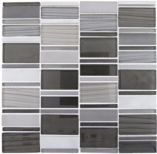 Bella Glass Tiles Corrugated Scapes Series Dusky Scenery