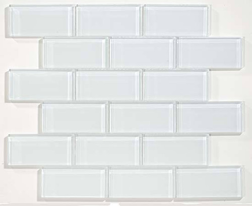 Bella Glass Tiles Glacier Series 2 x 4 Glass Subway Tile