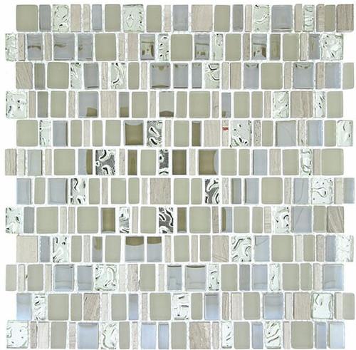 Bella Glass Tiles Enchanted Flavors Series Marsala Swirl