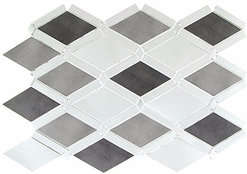 Bella Glass Tiles Falling Star Series Aluminum Platinum Moon