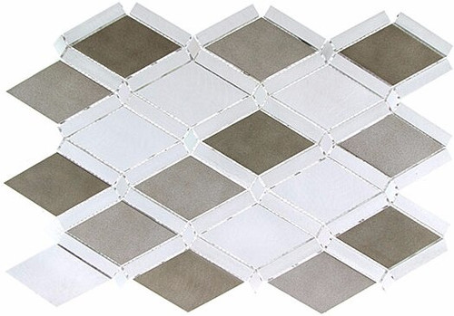 Bella Glass Tiles Falling Star Series Aluminum Jupiter Chrome