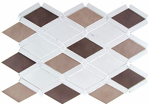 Bella Glass Tiles Falling Star Series Aluminum Ash Sable