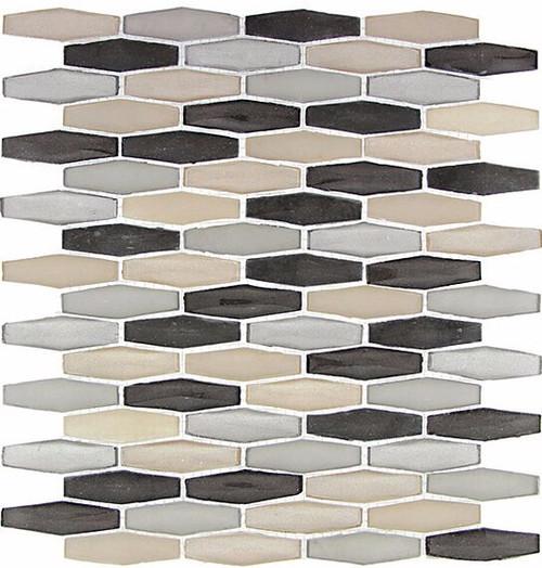 Bella Glass Tiles Modern Pyramids Royal Tweed