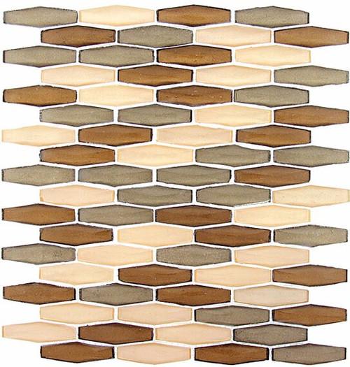 Bella Glass Tiles Modern Pyramids Warm Canyon
