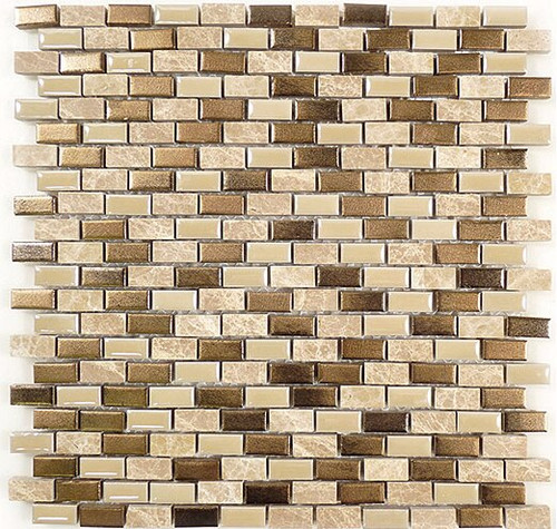 Bella Glass Tiles Porcello Series Golden Ocher