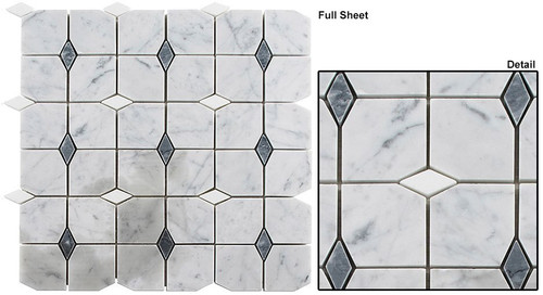 Bella Glass Tiles Kings Landing Barcelona Rain Stone Mosaic