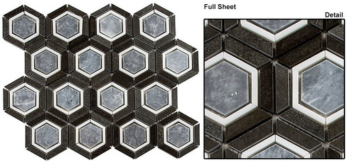 Bella Glass Tiles Sky Light Velvet Periwinkle Stone Mosaic
