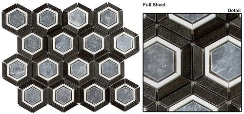 Bella Glass Tiles Sky Light Velvet Periwinkle Stone Mosaic SKLT-684
