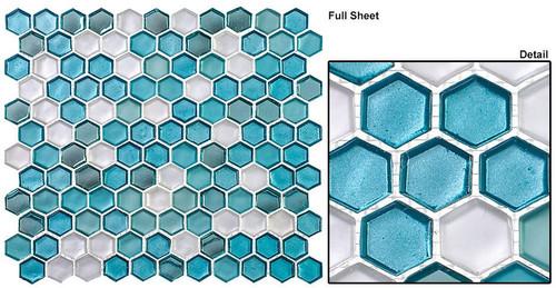 Bella Glass Tiles Mountain Retreat Tropical Sea Glass Mosaic