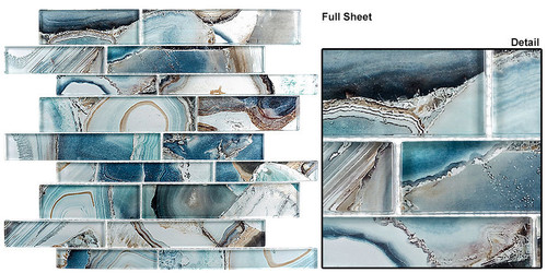 Bella Glass Tiles Magical Forest Crystal Lagoon Glass Tiles MGF-626