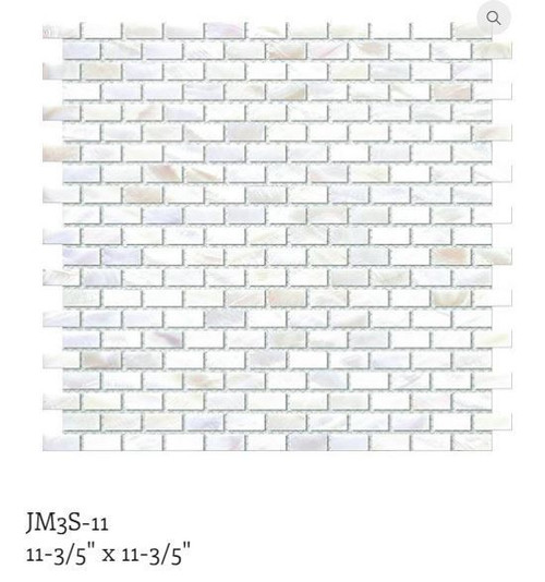 Puccini Natural Shell Mosaic Guam Mini Brick