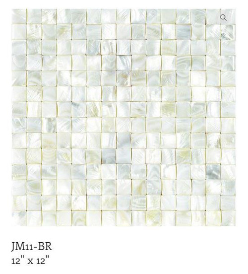 Puccini Natural Shell Mosaic Guam Basketweave