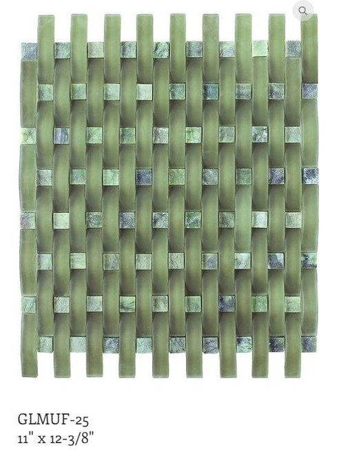 Puccini Brucke Series Jade Green FROSTED mosaic tiles