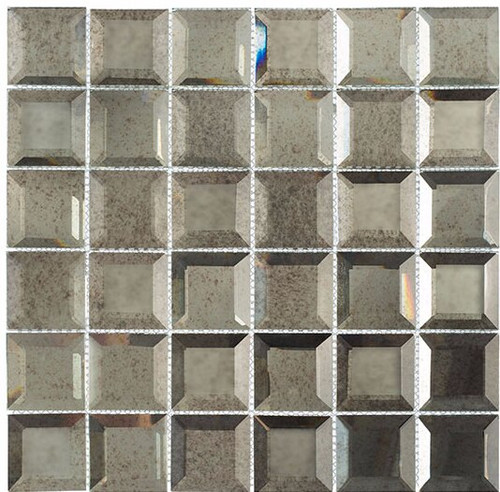 Bella Glass Tiles Checkers Lifting Fog CKR115