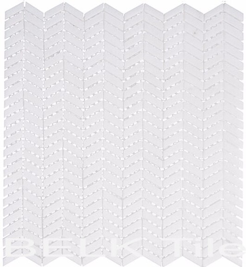 Bella Glass Tiles Covered Bridge Atrium White