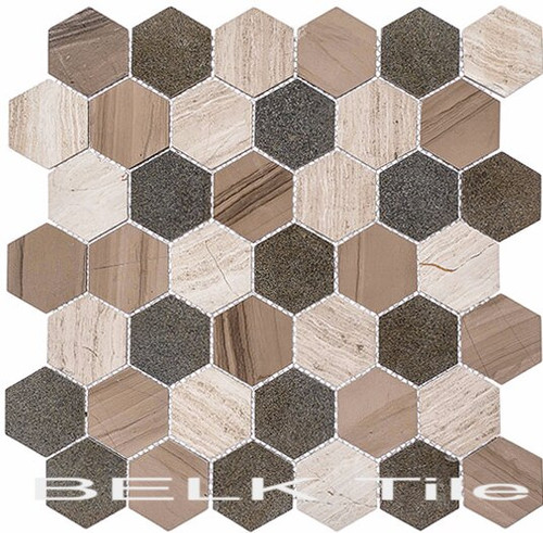 Bella Glass Tiles Colonial 2 Inch Hex New Chesapeake