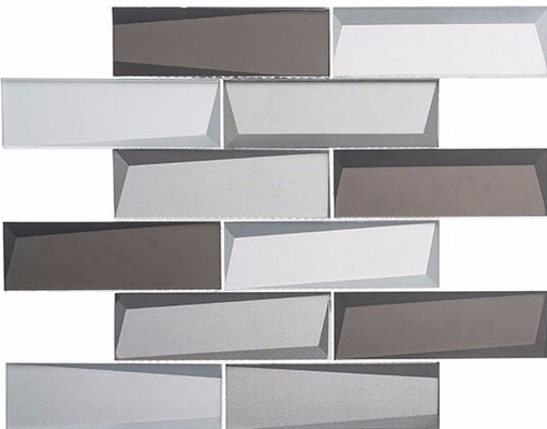 Bella Glass Tiles Scandinavia Baltic Peak Subway Tile