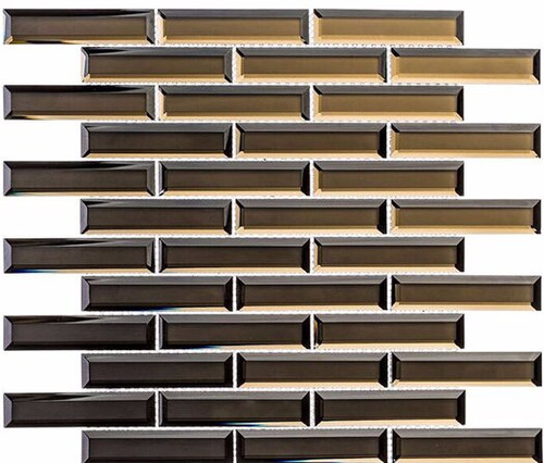 Bella Glass Tiles Mystique Cedar Myst 1 x 4