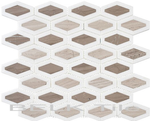 Bella Glass Tiles Garden Party Series Espresso Tan