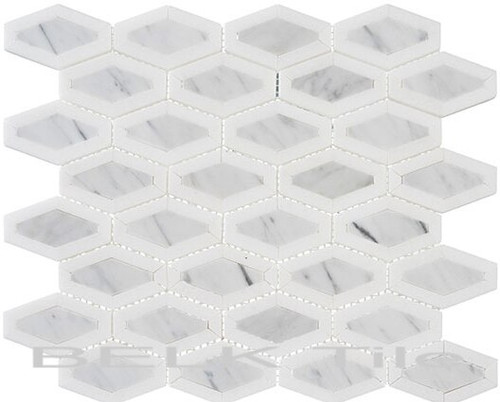 Bella Glass Tiles Garden Party Series Coconut White