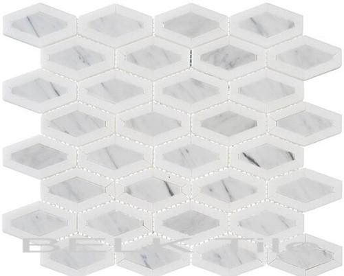 Bella Glass Tiles Garden Party Series Coconut White