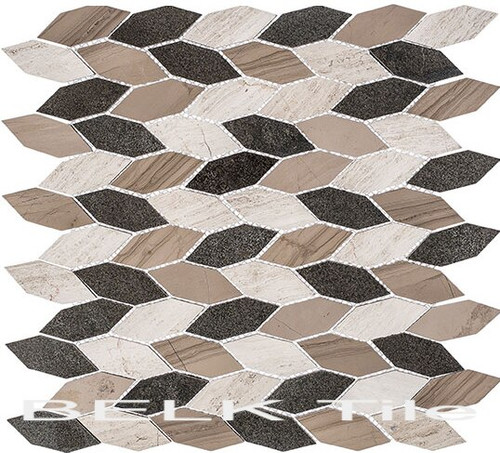 Bella Glass Tiles Colonial Series Long Hex New Chesapeake