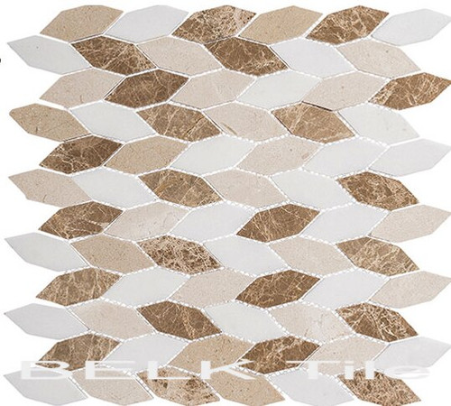 Bella Glass Tiles Colonial Series Long Hex Providence Pier CLNL-284