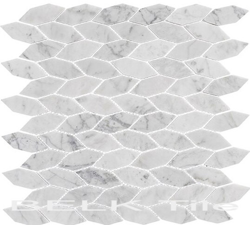 Bella Glass Tiles Colonial Series Long Hex Captains Manor
