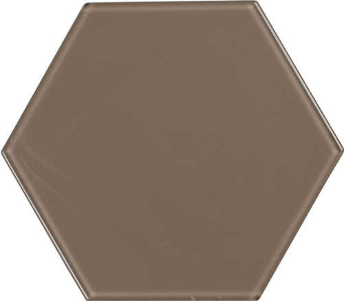 UBC 8 inch Glass Hexagon Tile Gravel