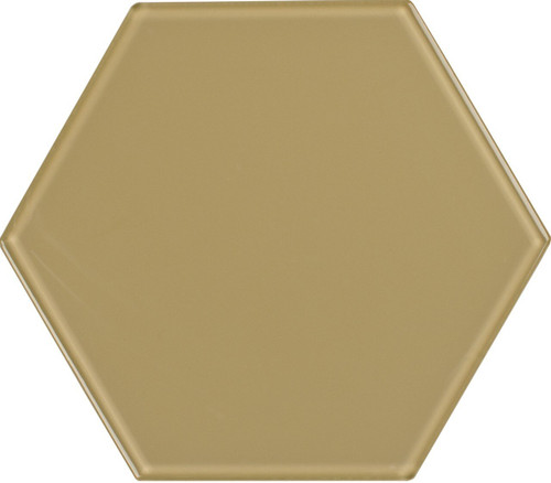 UBC 8 inch Glass Hexagon Tile Sand Dollar