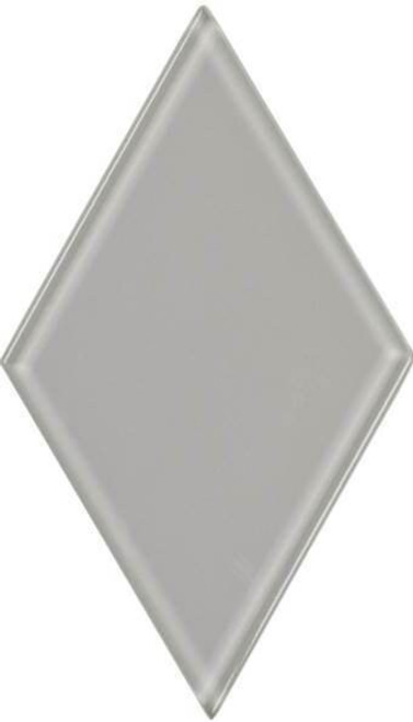 UBC 4.5 inch Glass Diamond Tile Whisper Gray