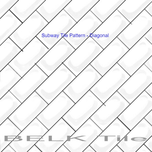 BELK Tile Backsplash Tile Pattern Subway Diagonal