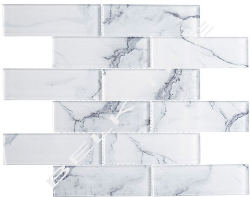 Bella Glass Tiles Michelangelo Florence Cathedral 2 x 6 Glass Subway Tile