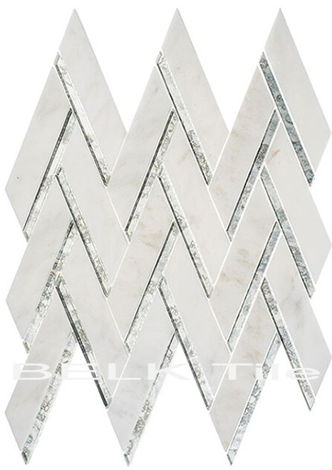 Bella Glass Tiles Peaks Harbor Ornate Crest PH-481
