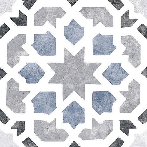 Bella Glass Tiles Retro Nueve Love Burst Encaustic Look