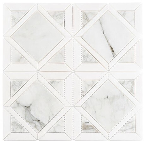 Bella Glass Tiles Wright Windows Series WRW-103 Late Mist