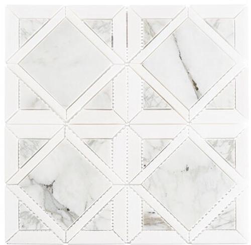 Bella Glass Tiles Wright Windows Series WRW-103 Late Mist