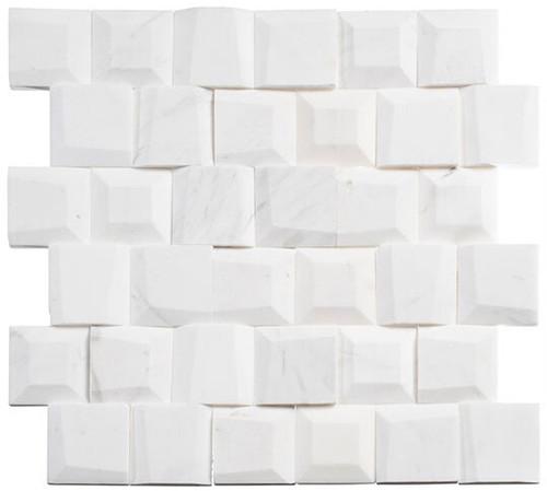 Bella Glass Tiles Tilton Marble Mosaic TLT-5902 Avory Column