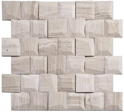 Bella Glass Tiles Tilton Marble Mosaic TLT-5903 Universal Stroke