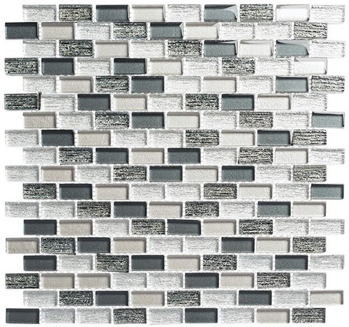 Bella Glass Tiles Metro Series MTR-3343 Jules Charcoal