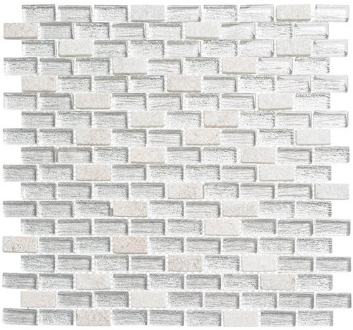 Bella Glass Tiles Metro Series MTR-3344 Chloe White