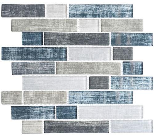 Bella Glass Tiles Textile Series Blue Denim TXT-6411