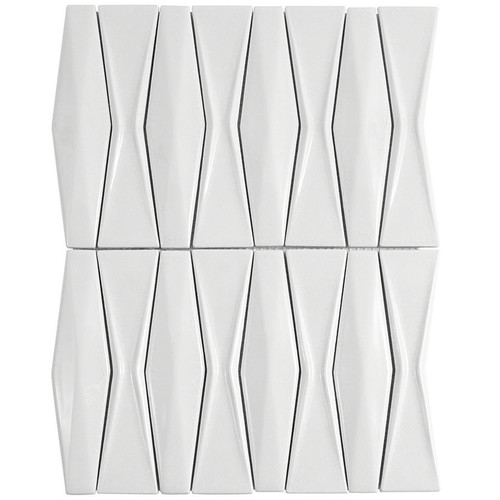 Soho Studio Baroque Adwick Blanco Ceramic Tile Mosaic