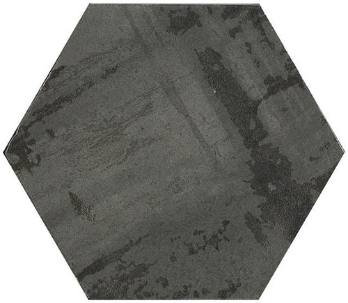 Bella Glass Tiles Princeton Glaze Hexagon Nero Night