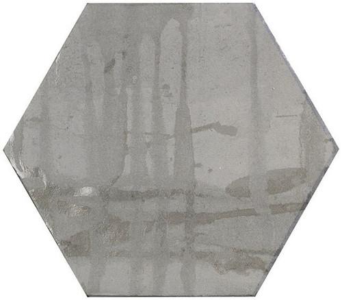 Bella Glass Tiles Princeton Glaze Hexagon Victorian Pewter