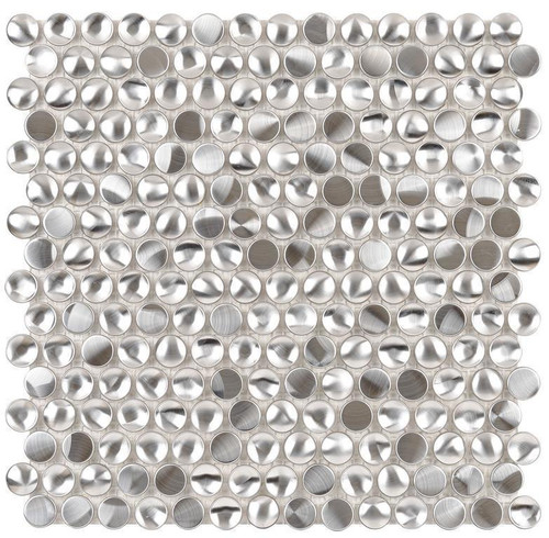 UBC Stainless Steel Tile 3D Dime Mosaic 411-026